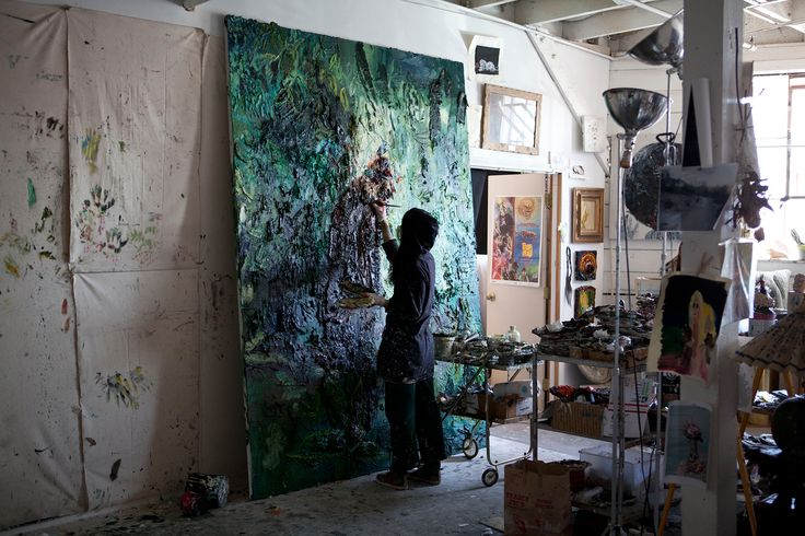 Allison Schulnik In Her Studio Photo By Brigitte Sire