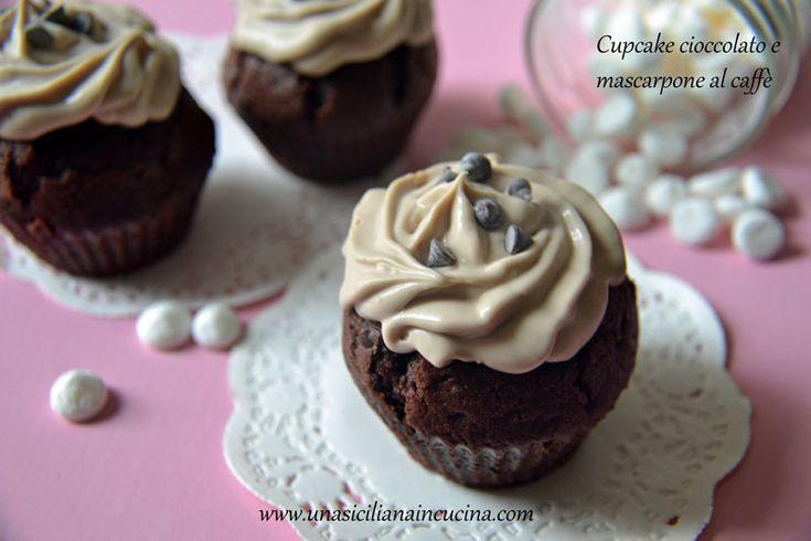 Cupcake cioccolato e crema mascarpone al caffè se volete iniziare la giornata con una carica di energia oppure avete bisogno di una pausa strong