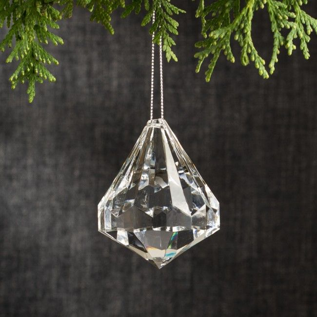 Diamonds are forever, so shine up your tree with this diamond ornament. (Not a real diamond)