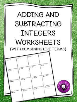 Best 25+ Subtracting integers worksheet ideas on Pinterest ...