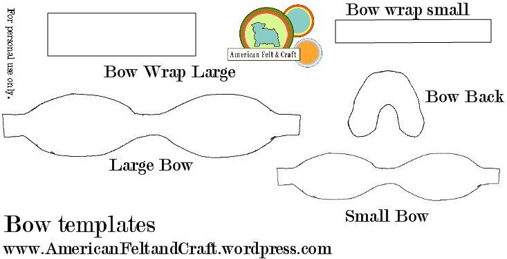 felt bow tie template - templates to make bows bows bows bows pinterest