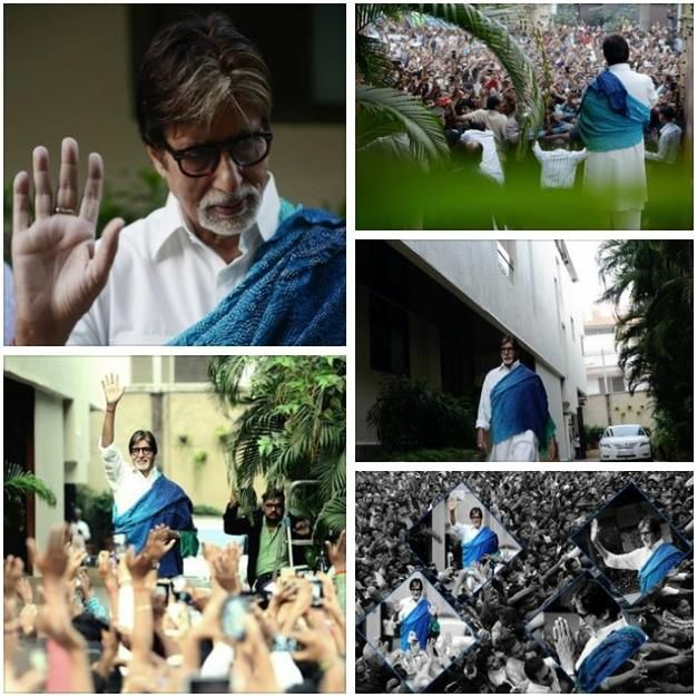 Sir Amitabh Bachchan ji during the Sunday meet with the well wishers.