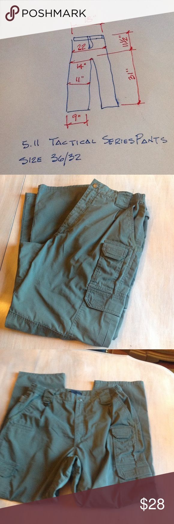 5.11 Tactical series pants Preowned, 36/32, 65% polyester, 35% cotton great condition Pants Cargo