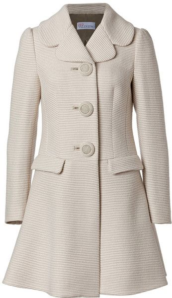 Valentino Red Wool cotton Coat @Lyst