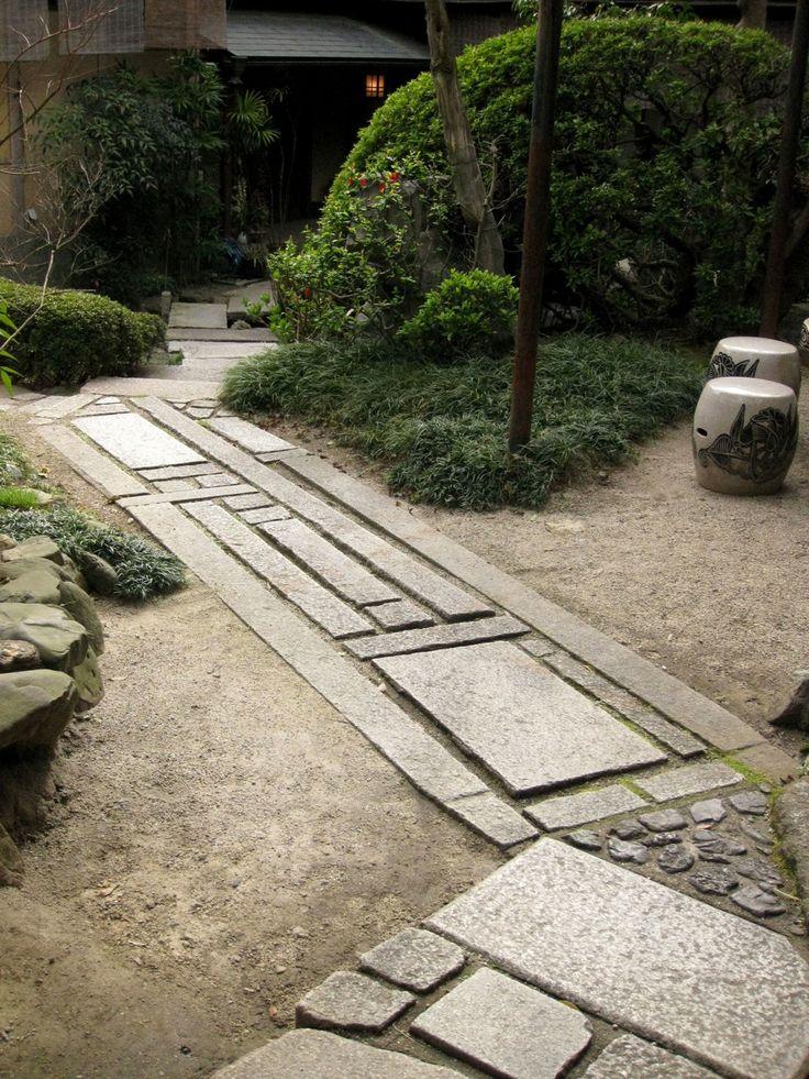 Cool granite pattern path garden paths patios for Cool zen garden designs
