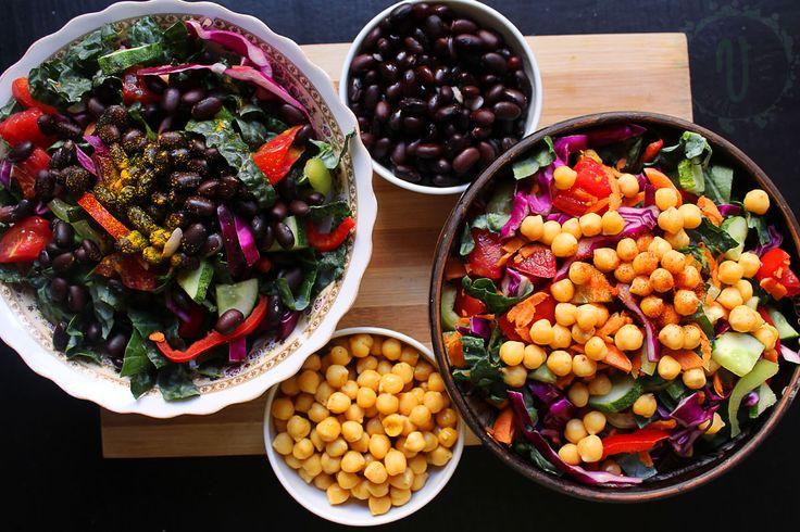 Salată de Naut vs Fasole - fight! - dolce far verde verde
