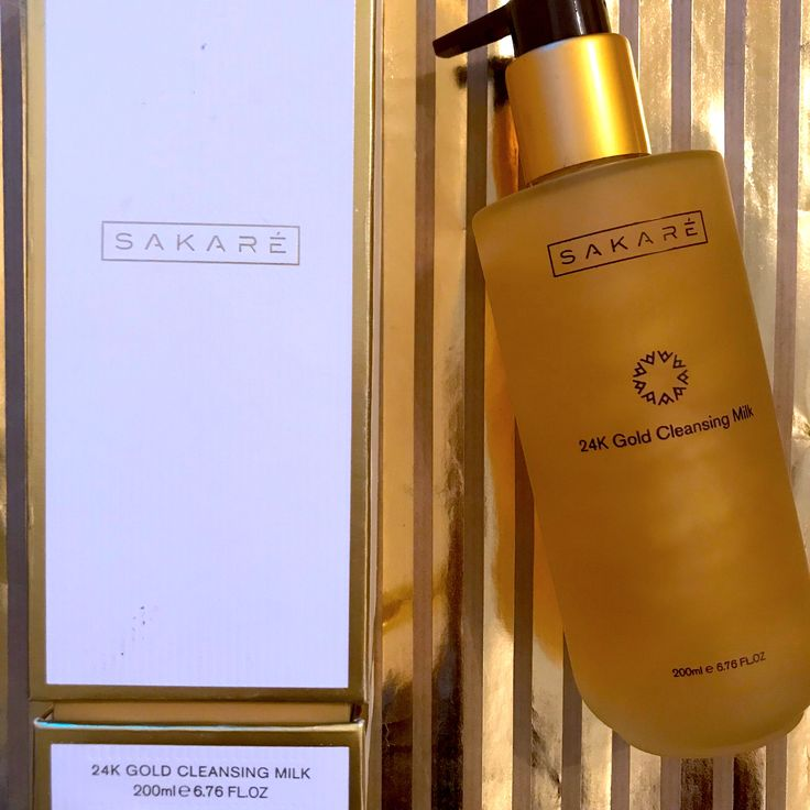 The 24K Gold Cleansing Milk - the ultimate cleanser enriched with flakes of gold to add a radiant glow to the skin. Golden products from the 24K Gold Range at #Sakaré    #Sakaré #Sakare #skin #skincare #beauty #cosmetics #luxury #London #Paris #bath #shower #hydrate #gold