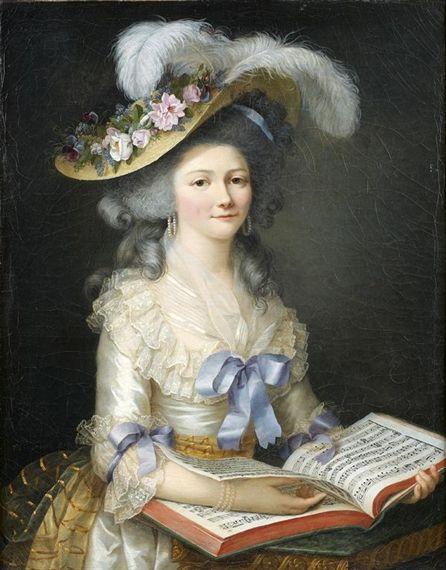 Elizabeth Lemoine - PORTRAIT PRÉSUMÉ DE FRANÇOISE DE TAULONG; Creation Date: 1784; Medium: canvas; Dimensions: 88,5 X 69 CM