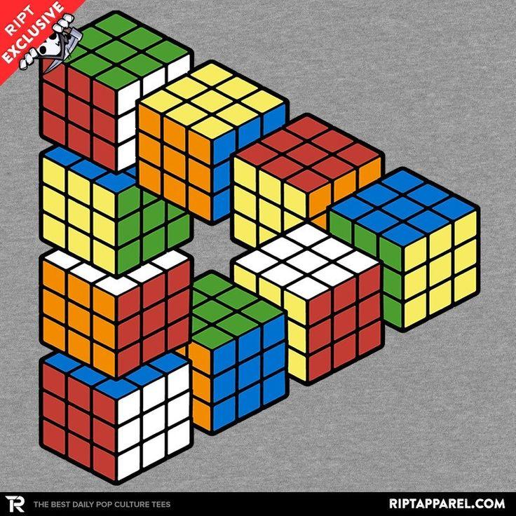 Penrose Triangle Cubes 5562 best Random T-Shi...