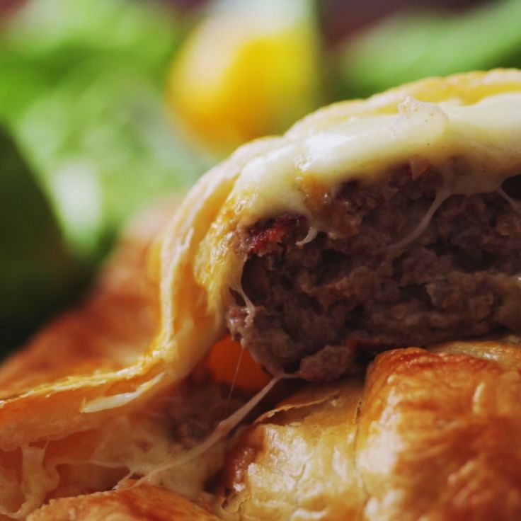 How to make a meat and cheese pie.