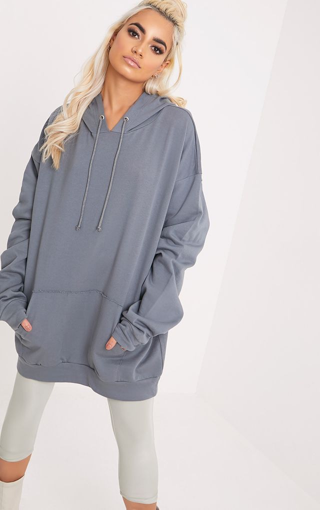 4b0c0dc5191865 Steph Petrol Blue Oversized Hoodie | Outfits on point in 2019 ...