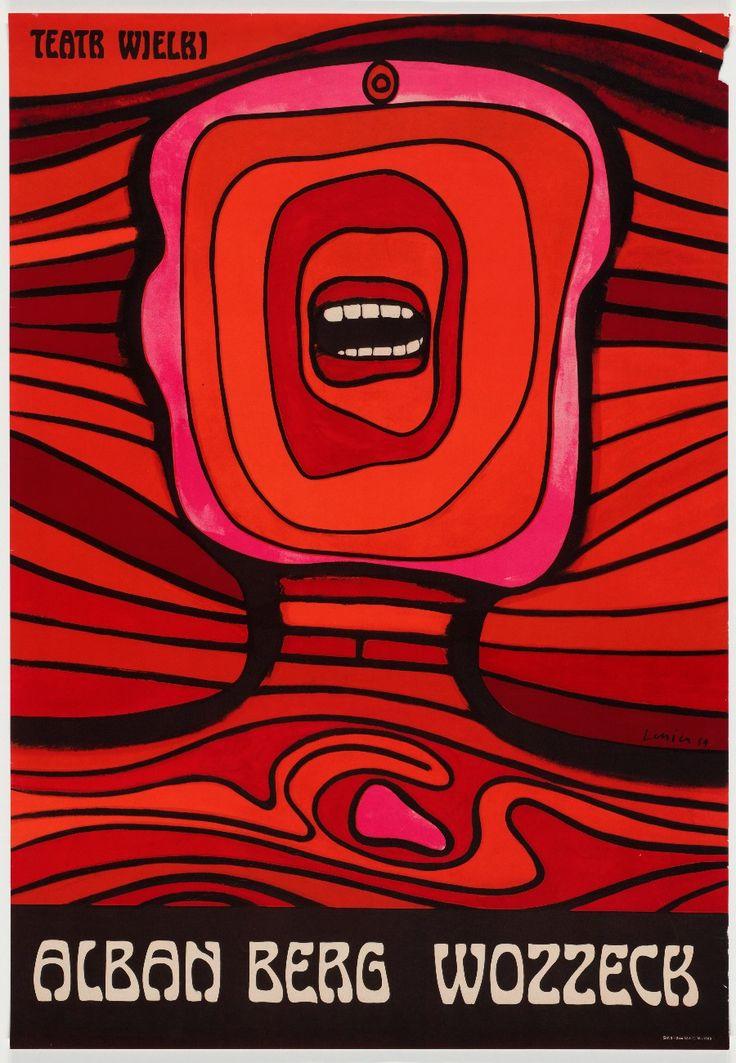 """El Cartel Polaco. La más simple definción: """"Un grito en la pared"""" 1964. Jan Lenica (1928-2001). Alan Berg Wozzek. Influencia del óptical art."""