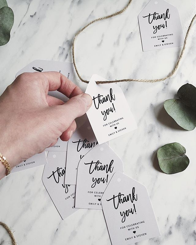 "You can never give too many ""thank yous"" (I am an over-thanker ‍♀️) if you agree and if you're like me, these editable thank you notes are available in the shop. Edit-print-cut. Perfect detail on your wedding favors"