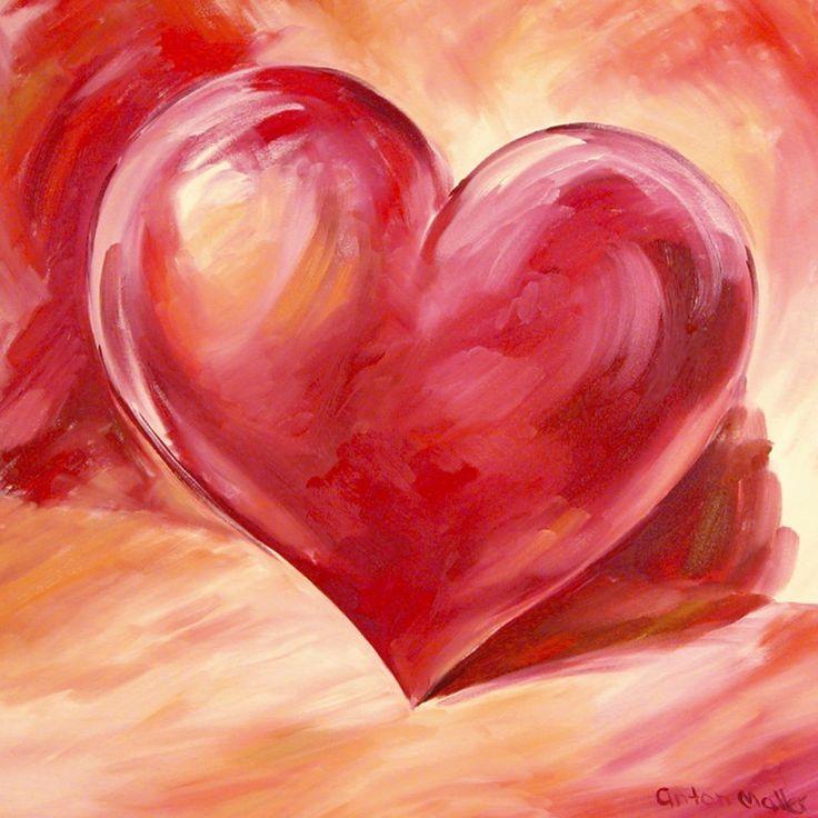 Anton Maller: rosa/rotes Herz – ideales Geschenk zum Valentinstag oder Jahrestag…