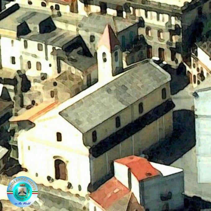 Gagliato ☆ La chiesa in un acquarello di V. Pitaro