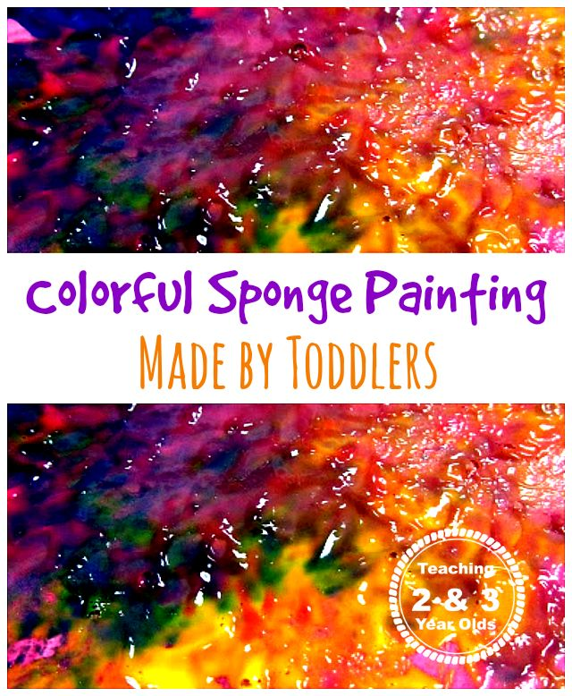 This colorful sponge painting activity is a fun kids craft that works on coordination and motor skills, and teaches children about texture!