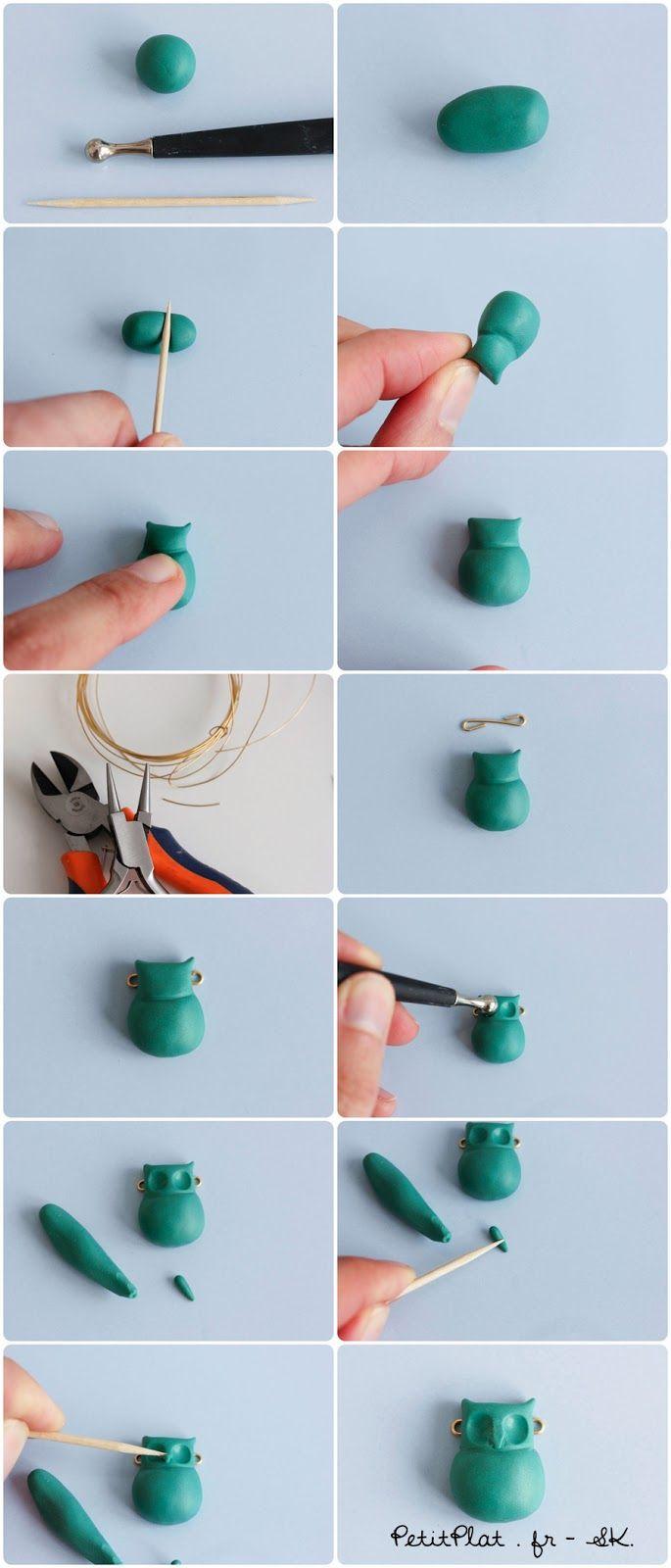 PetitPlat Miniatures by Stephanie Kilgast: DIY Owl Necklace - Polymer Clay