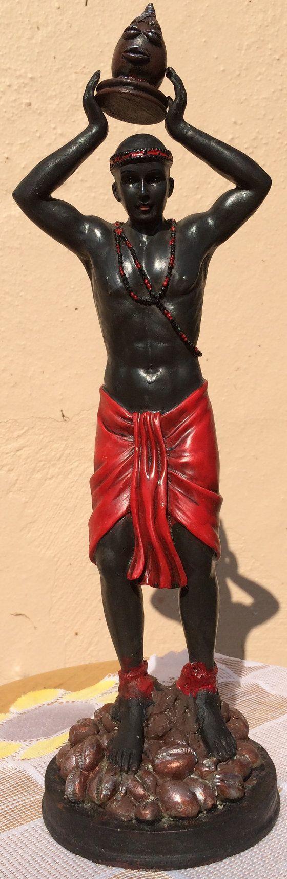 Orisha Eleggua Yoruba Religion Ellegua Catholic Religious Saint statues on Etsy, $37.00