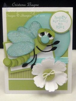gettincrafty.typepad.com Stampin' UpPunch Art Cards, Happy Birthday, Cards Ideas, Kids Cards, Sweets Dragonflies, Punch Cards, Kids Birthday Cards, Dragonflies Cards, Paper Crafts