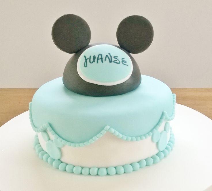 Torta de Mickey Mouse celeste