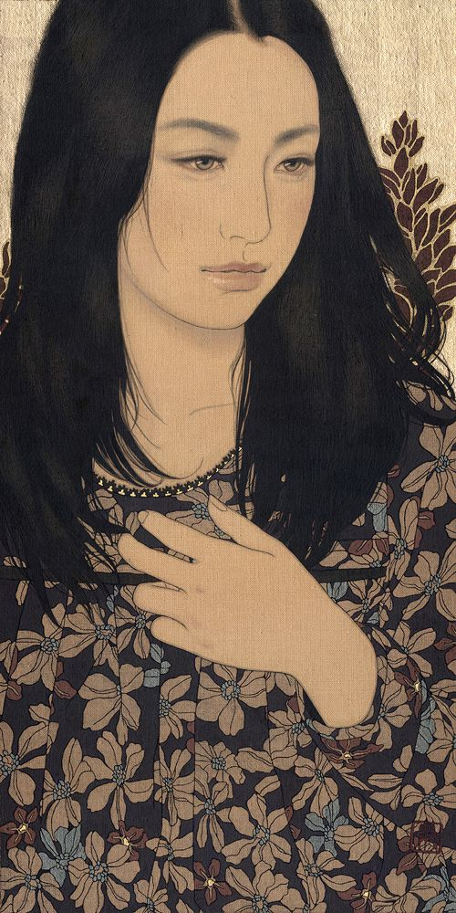 Portrait by Ikenaga Yasunari #nihonga
