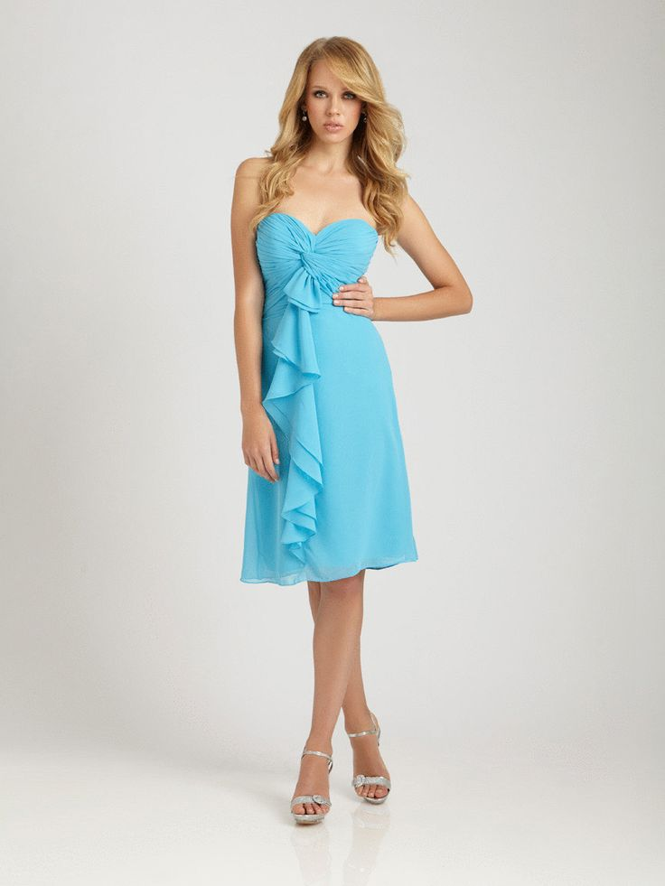 Allure 1251 Turquoise Size 10 In Stock Bridesmaid Dress