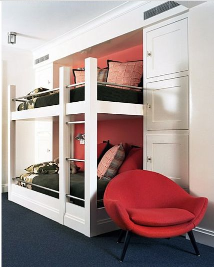built in bunks and storage...