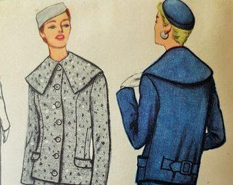 Patron de costume des années 1950, patron de couture de Vintage McCall 3120, patron de couture des années 1950, buste 34, patron de veste, col châle, approvisionnement de couture Vintage