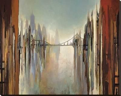 Bridges and Towers Stretched Canvas Print by Gregory Lang at Art.com