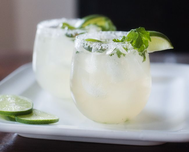 Jalapeno cilantro margarita. Looks like trouble to me; I'll have to make a pitcher for my mini 4th of July vacation weekend in the yard! Too bad my own jalapenos are only at the bloom stage!