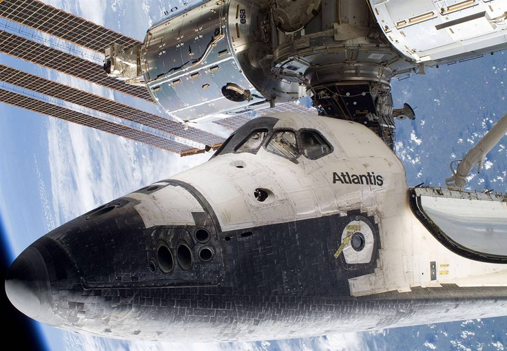 Atlantis docked to Space Station 5-17-10 That space shuttle has seen a few re-entries!