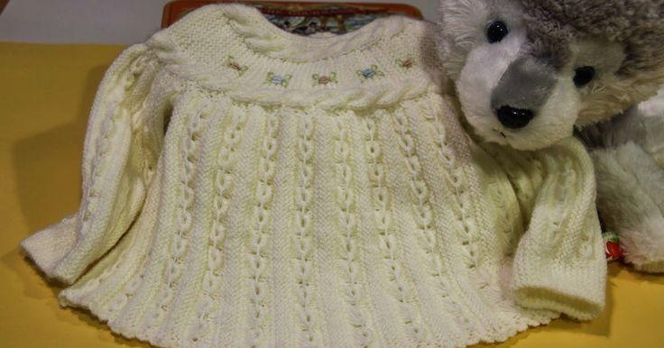 Jersey para bebé primera postura      Un jersey para bebé de primera postura, que en esta ocasión vamos a realizar en una s...