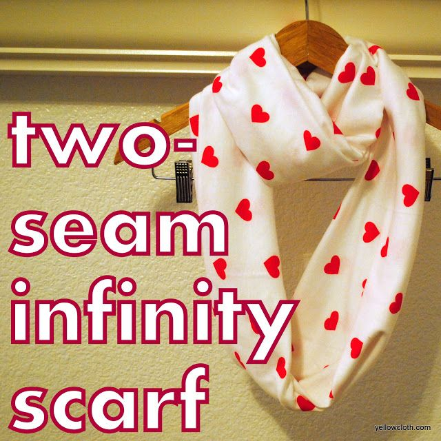 mommy is coo coo - how to make a two-seam infinity scarf