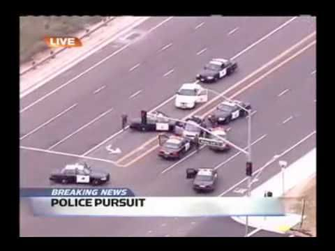 A police car chase set to Yakety Sax.  The driver does some really excellent trolling before finally getting caught.
