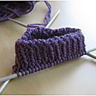 Un patrón simple de calcetines de punto para principiantes