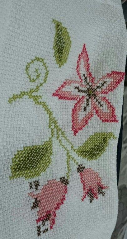 Flowers - ponto cruz