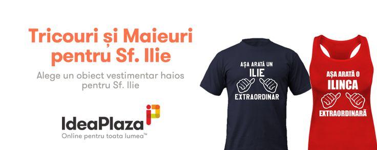 #Tricouri si Maieuri Personalizate.... special create pentru un #Ilie sau o #Ilinca Extraordinara ---- http://www.ideaplaza.ro/tricouri-personalizate/tricouri-extraordinare/