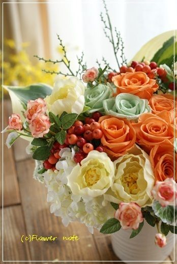 『【今日の贈花】大好きなおばあちゃまへ贈る元気色♪』