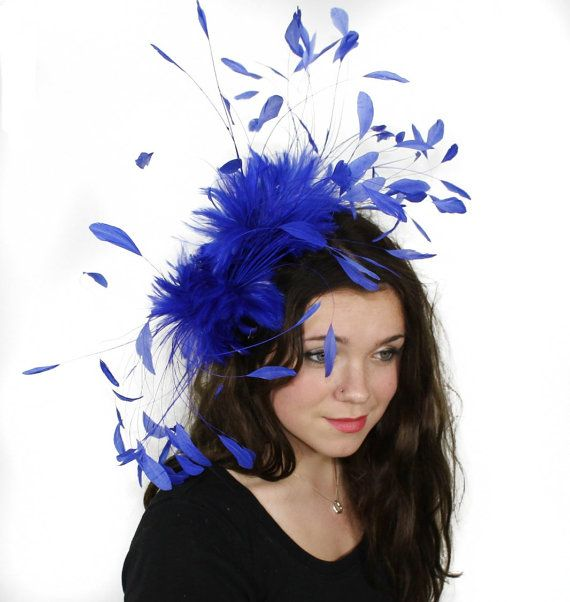 Royal  Fascinator Kentucky Derby or Wedding Hat by Hatsbycressida, $140.00