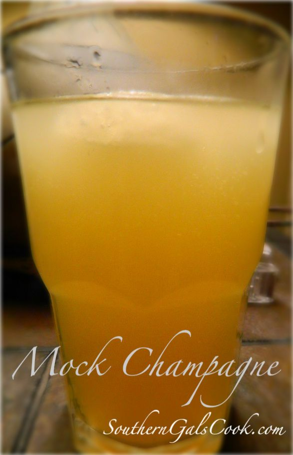 Mock Champagne- SouthernGalsCook.com Make any occasion special by raising a glass {or mason jar} of mock champagne.