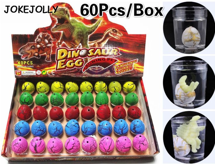 60pcs/box Magic Water Hatching Inflation Growing Dinosaur Eggs Toy For Kids Gift Child Educational Novelty Gag Toys GYH