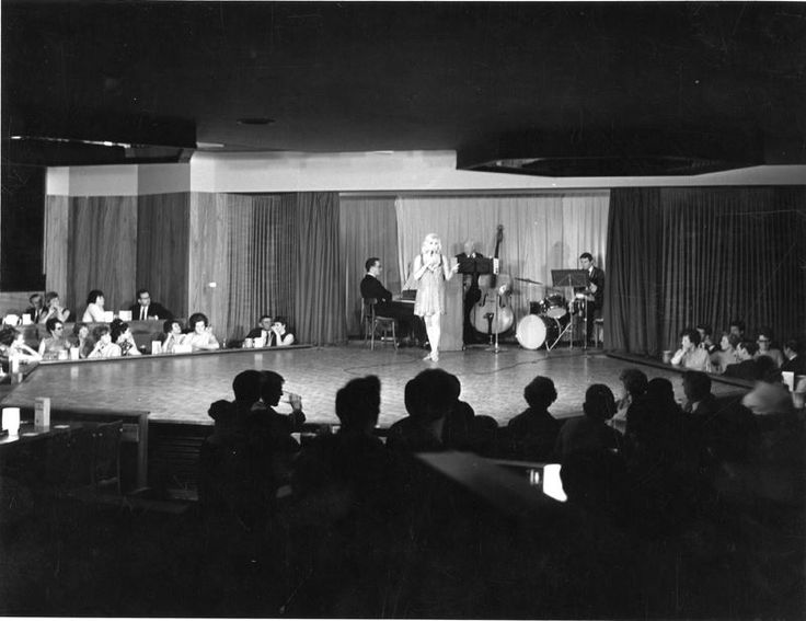Diana Dors on stage at The Cavendish Club, Bank Street 1967