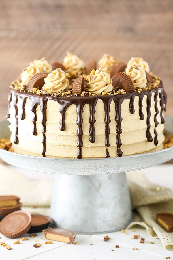 Incredible Peanut Butter Chocolate Layer Cake Recipe Chocolate Layer Cake Personalised Birthday Cards Beptaeletsinfo
