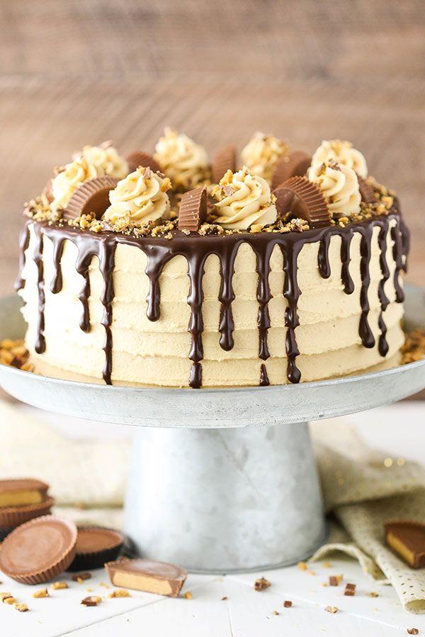 Pleasing Peanut Butter Chocolate Layer Cake Recipe Chocolate Layer Cake Funny Birthday Cards Online Fluifree Goldxyz