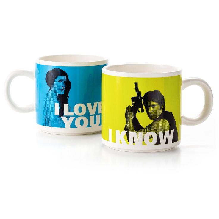 Han Solo™ and Princess Leia™ Stacking Mug Set