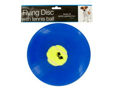 Flying Disc with Tennis Ball Dog Toy