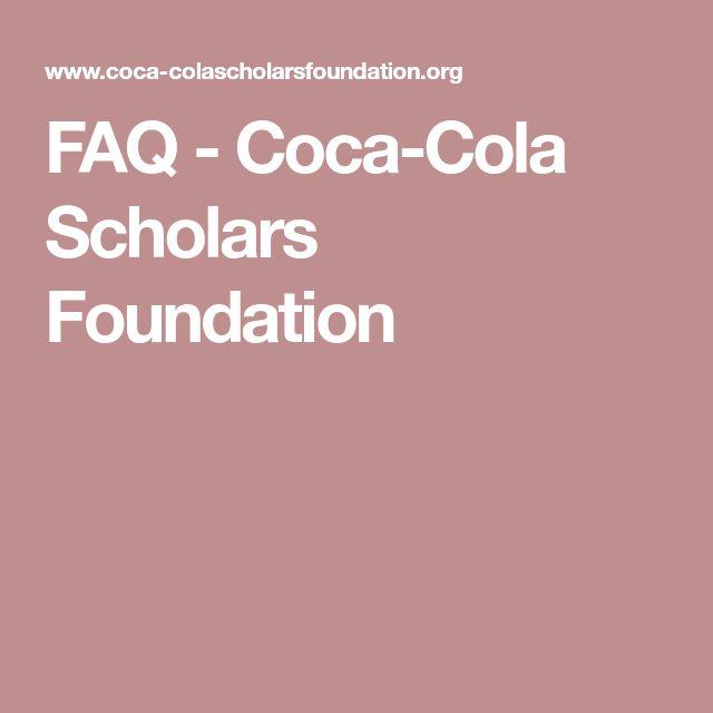 FAQ - Coca-Cola Scholars Foundation