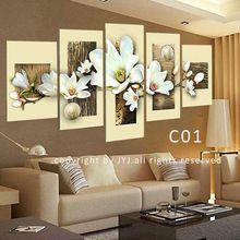 5 adet kalite 100% handpainted modern soyut yağlıboya tuval duvar sanatı hediye yok çerçeveli, üst ev dekorasyon jyjhs017(China (Mainland))