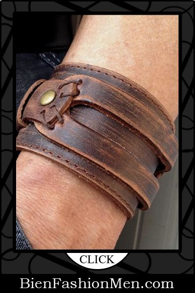 Mens Leather Cuffs | Mens Bracelets | Mens Jewelry | Mens Accessories | Bracelets on Men | Mens Jewelery | Shop Now ♦ Antique Men's Brown Leather Cuff Bracelet, Leather Wrist Band Wristband Handcrafted Jewelry $19.99