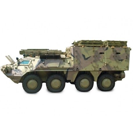 The BTR-4KSH Command and Staff Vehicle is intended to transport personnel of mechanized infantry units and to provide fire support in combat.